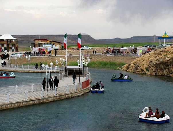 چشمه بالخلی بلاغی شهر گرماب، چشمه ماهی
