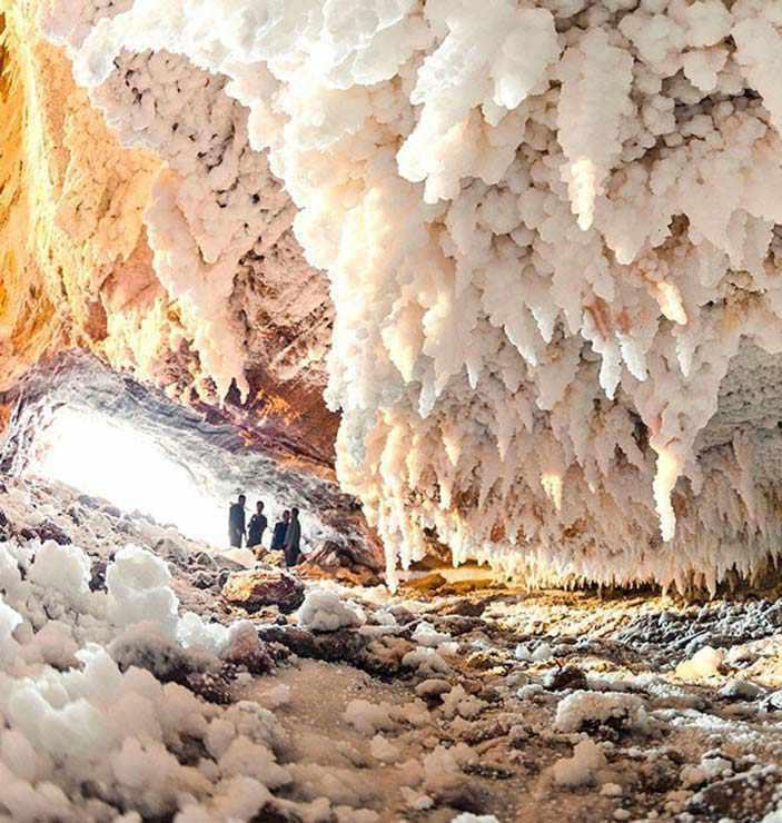 غار نمکدان، از طولانی ترین غارهای نمکی جهان
