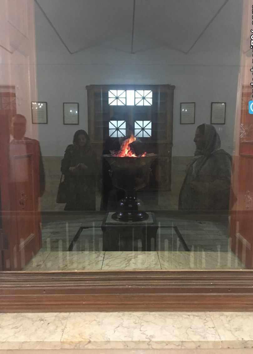 آتشکده یزد، محل نگهداری ورهرام 1500 ساله