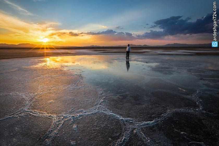 دریاچه نمک حوض سلطان، آئینه بزرگی در دل کویر