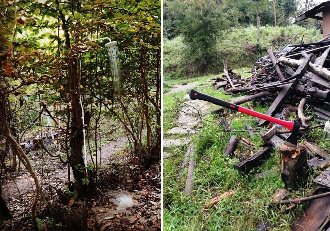 کلبه درختی در جنگل هیرکانی
