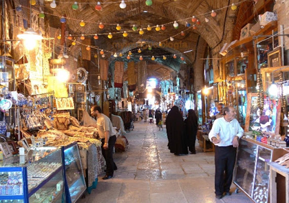 قسمت داخلی بازار سرشور مشهد