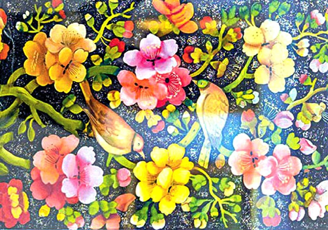 نقاشی پشت شیشه هنر دیرینه قزوین